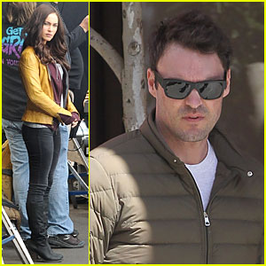 Megan Fox Gets a Lovely 'TMNT'  Set Visit From Hubby Brian Austin Green!