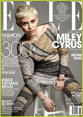 Miley Cyrus Covers 'Elle' Magazine's Music Issue for May 2014