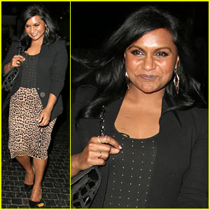 Mindy Kaling Emerges Right Before Being Named to People's Most Beautiful List 2014!