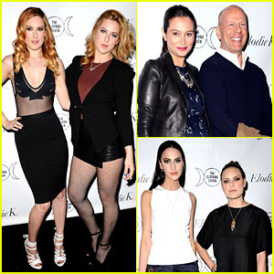 Rumer Willis Supports Sister Tallulah's Blog Launch with Dad Bruce & St