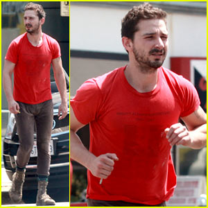 Shia LaBeouf Wears One of His Favorite Outfits for a Gym Workout