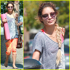 Vanessa Hudgens Rocks Braids for Weekend Yoga Workout!