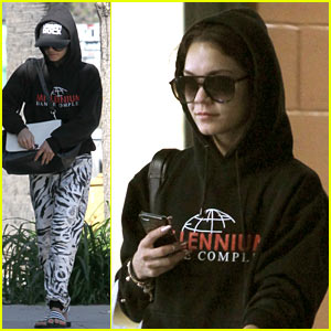 Vanessa Hudgens Runs Wild Around Los Angeles in Zebra Print Pants!