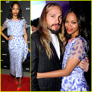 Zoe Saldana & Husband Marco Perego Make First Public Appearance Together!