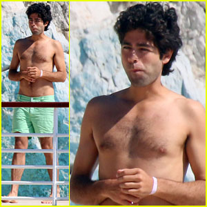 Adrian Grenier Goes Shirtless While Hanging Poolside with Some Bikini-Clad Babes