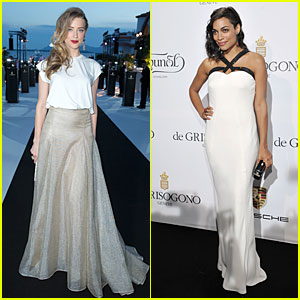 Amber Heard & Rosario Dawson Keep it Bright at De Grisogono Cannes Party!