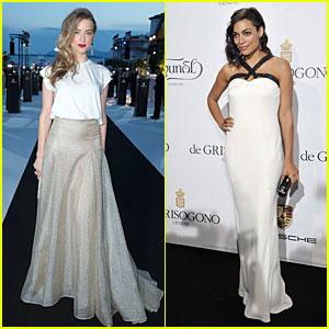 Amber Heard & Rosario Dawson Keep it Bright at De Grisogono Cannes Party!