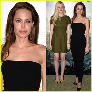 Angelina Jolie & Elle Fanning Hold Hands at 'Maleficent' Paris Photo Call!