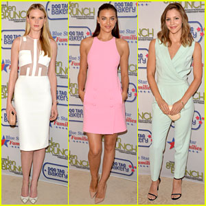 Anne V & Irina Shayk Strike Poses at the DC Garden Brunch