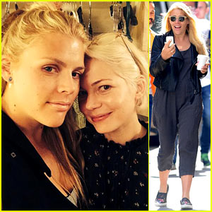 BFFs Michelle Williams & Busy Philipps Reunite Backstage at 'Cabaret'!