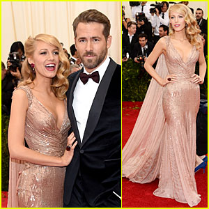 Blake Lively & Ryan Reynolds Are Gucci Perfect at Met Gala 2014