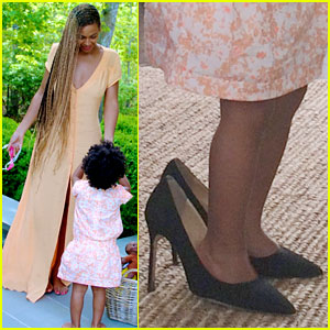 Blue Ivy Carter Walks in Beyonce's Shoes - See the Cute Pic!