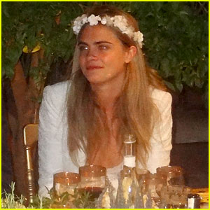 Cara Delevingne Dons Floral Crown for Sister Poppy's Second Wedding in Morocco!