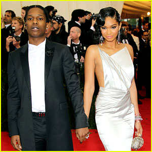 Chanel Iman & A$AP Rocky Hold Hands at Met Ball 2014!