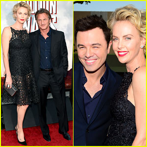Charlize Theron Takes Boyfriend Sean Penn to 'Million Ways to Die in the West' Premiere!