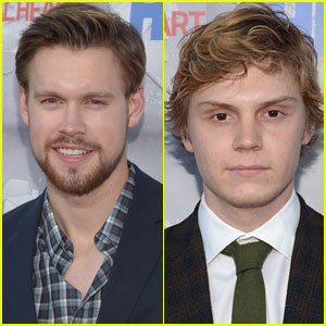 Chord Overstreet & Evan Peters Support Ryan Murphy at 'Normal Heart' Premiere!