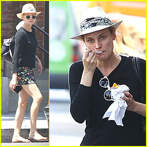 Diane Kruger Can Even Make Eating Yogurt Look Stylish!