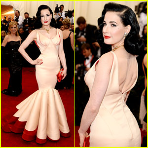 Dita Von Teese Brings Classic Glamour to Met Ball 2014