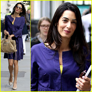 George Clooney's Fiancee Amal Alamuddin Goes Back to Work