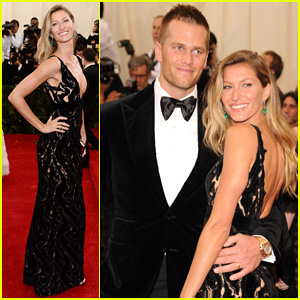 Gisele Bundchen & Tom Brady Are a Glowing Couple on Met Ball 2014 Red Carpet