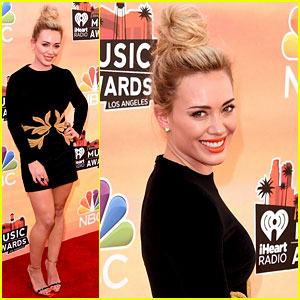 Hilary Duff Wears an LBD to the iHeartRadio Music Awards 2014