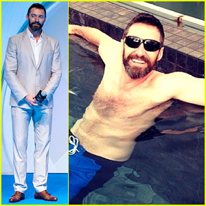 Hugh Jackman Goes Shirtless on a Skyscraper in Singapore!