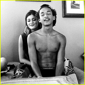 Shirtless Jaden Smith Sits on Kylie Jenner's Lap On a Bed