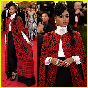 Janelle Monae is Devilish Red at Met Ball 2014