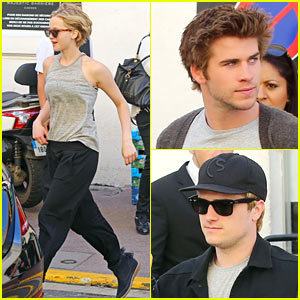 Jennifer Lawrence & 'Hunger Games' Guys Step Out in Cannes