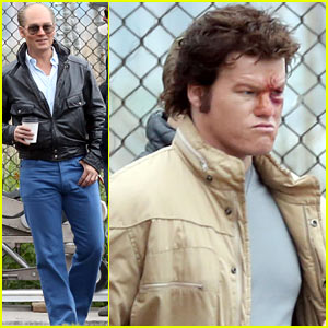 Johnny Depp Works Alongside a Bloody-Looking Jesse Plemons for 'Black Mass'!