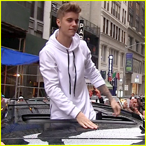 Justin Bieber Causes Fan Frenzy in NYC and Loves It!