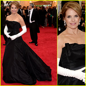 Katie Couric is White Glove Glam at Met Ball 2014