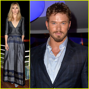 Kellan Lutz & Suki Waterhouse Kick Back at Armani's Cannes Party