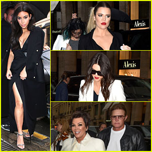 Kim Kardashian Shows Some Leg at Dinner with Her Family!