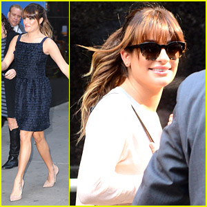 Lea Michele Shares Healthy Snack Tips on 'Good Morning America'