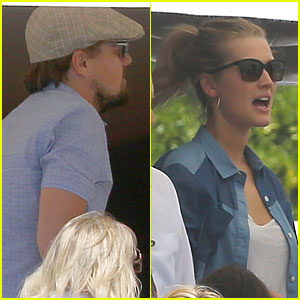Leonardo DiCaprio & Girlfriend Toni Garrn Grab Lunch with His Mom Irmelin During Cannes!