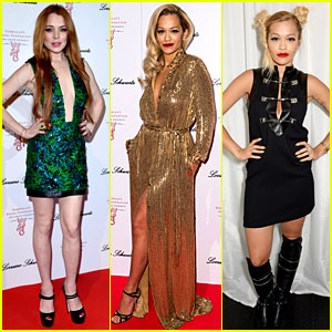 Lindsay Lohan & Rita Ora Glam Up for Gabrielle's Gala in London