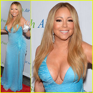 Mariah Carey Flaunts Major Cleavage at Fresh Air Fund Gala