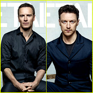 Michael Fassbender and James McAvoy look handsome as can be on their    James Mcavoy Michael Fassbender