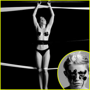 Miley Cyrus Barely Covers Her Breasts, Goes Nearly Nude for Bondage 'Bangerz' Video - Watch Now!