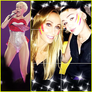 Miley Cyrus</a> Dons Face Paint for Mom Tish's Birthday Celebration!