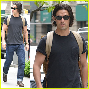 Milo Ventimiglia Flashes Muscles in a Tee in NYC!