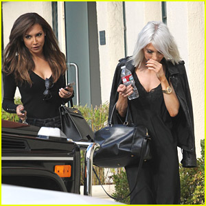 Naya Rivera Gets Glam at Blushington with Gal Pal