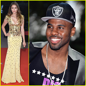 Nina Dobrev & Jason Derulo Walk Red Carpet at World Music Awards 2014