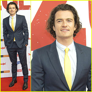 Orlando Bloom Stands Out in a Yellow Tie at 'Zulu' Germany Premiere!