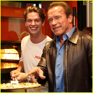 Patrick Schwarzenegger Celebrates the Opening of Blaze Pizza with Family and Celeb Friends!