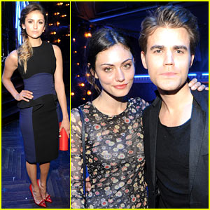 Nina Dobrev & Paul Wesley Continue Their Upfront Celebration at CW's After Party!