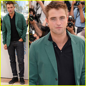 Robert Pattinson Goes Green for 'The Rover' Cannes Photo Call