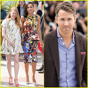 Ryan Reynolds & Rosario Dawson Hit Up the Cannes Festival for 'The Captive' Photo Call!