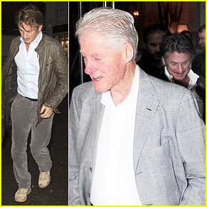 Sean Penn Talks Politics with Former President Bill Clinton in London!